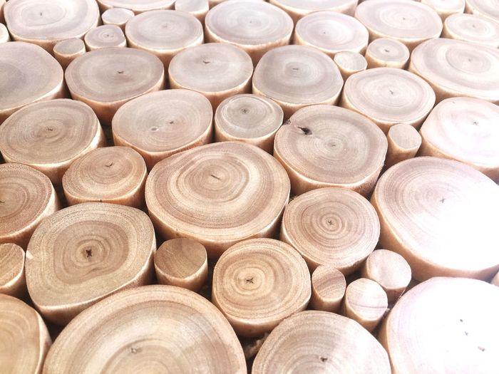 Full frame shot of tree rings