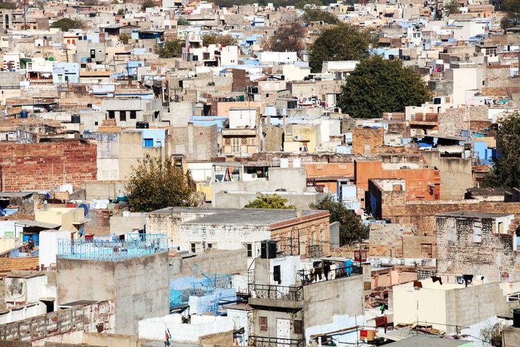 Full Frame Shot Of Old Cityscape