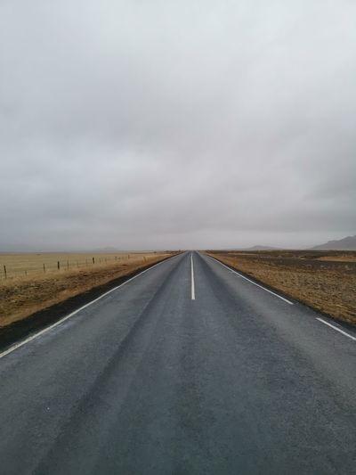 Empty road along on landscape