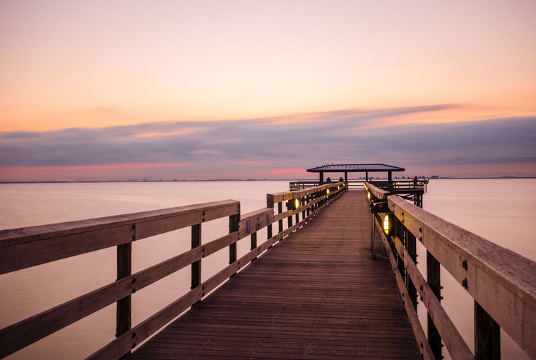 Beach Beauty In Nature Bridge - Man Made Structure Built Structure Day Horizon Over Water Jetty Nature No People Outdoors Pier Railing Scenics Sea Sky Sunset The Way Forward Tranquil Scene Tranquility Water Wood - Material Wood Paneling The Great Outdoors - 2018 EyeEm Awards