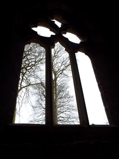 Looking out of the east window of the chapel of St. John the Evangelist Medieval Castle Medieval Castle Skipton Castle East Window Chapel Window Chapel St John The Evangelist Chapel