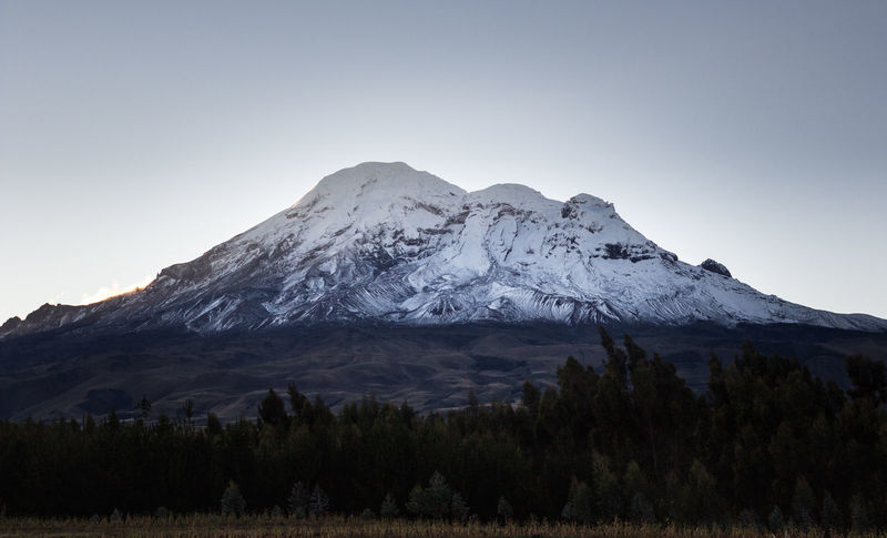 Andes Chimborazo Volcano Beauty In Nature Chimborazo Clear Sky Cold Temperature Day Height Landscape Mountain Mountain Peak Mountain Range Nature No People Outdoors Peak Scenery Scenics Snow Snow Covered Snowcapped Mountain Tranquil Scene Tranquility Wilderness