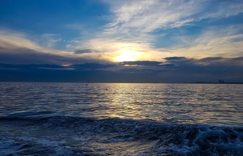 Sunset_collection Sun Travel Destinations Travel Traveling Travel Photography Sea And Sky Tranquil Scene Turkey Bosphorus Water Astronomy Sea Sunset Beach Beauty Blue Low Tide Sky Horizon Over Water