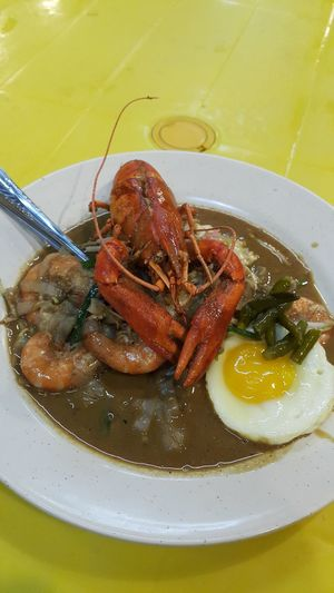 Chinese Food Malay Food Fried Kuey Teow Char Kuey Tiaw Fresh Malaysian Food Lobsters Egg Prawn Seafood Plate Close-up Food And Drink Egg White Shrimp Fried Egg