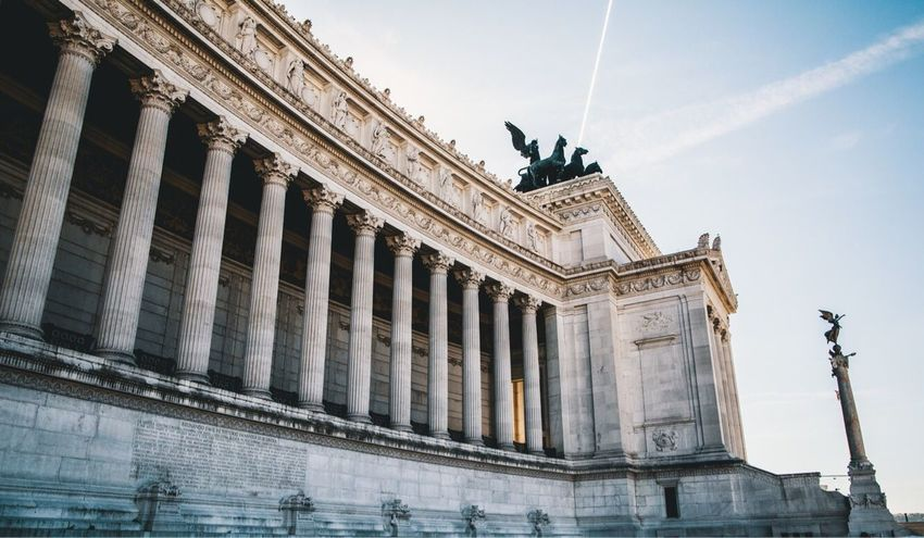 Italy Architecture Architectural Column History Travel Outdoors Day Sky Low Angle View