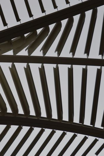 Low angle view of railing