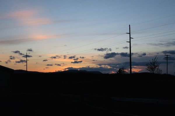 Outdoors Sunset Sky Cable Silhouette Electricity  Connection Electricity Pylon Power Line  Power Supply Nature Cloud - Sky Fuel And Power Generation No People Beauty In Nature Telephone Line Landscape Technology Field Scenics EyeEmNewHere