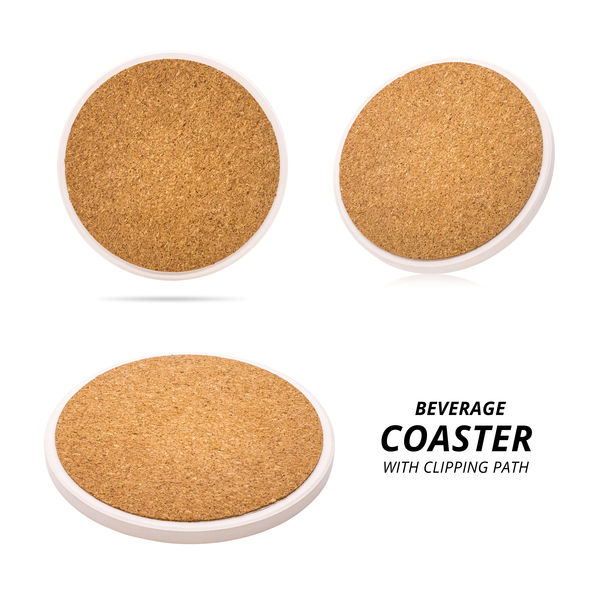 Wooden beverage coaster isolated on white background. Abstract Wood pad for put your mug. ( Clipping path ) Beverage Beverages Circle Coasters Coffee CutOut Isolated Board Brown Coaster Coffee Cup Cup Cut Out Drink Hardwood Material Mug Pad Round Round Shape Surface Texture Timber White Background Wooden