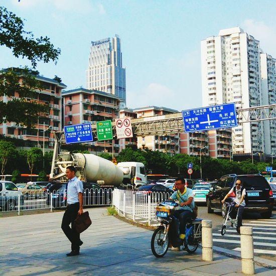 Urban Landscape City Landscape Taking Photos Guangzhou 大家都很忙,大家都很趕! 無奈,路堵; 焦急,心堵……