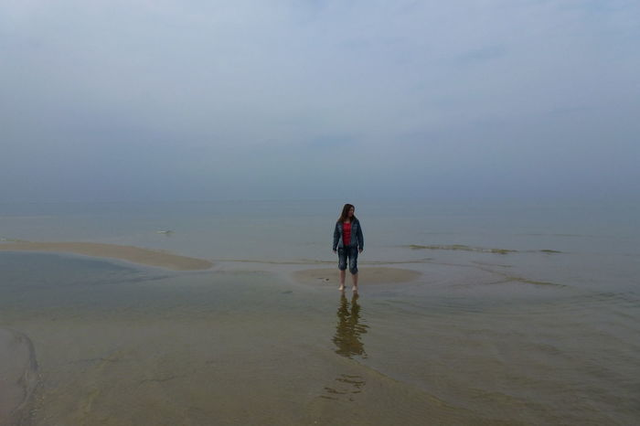 Baltic Sea Germany Feeling Lost Grey Day Loneliness Lonely Lost Beach Beauty In Nature Foggy Day At The Beach Foggy Landscape Lonely Person Mystical Atmosphere Mystical Place No Way Out Nowhere To Go Nowhereland One Person Scenics Sea Standing Alone Standing In Water Surrounded By Water Tranquil Scene Wet Beach Woman Standing