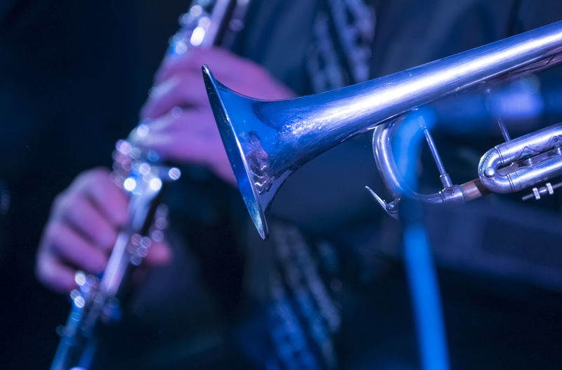Close-up of saxophone