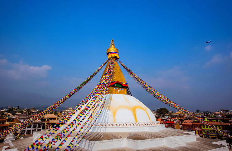View of boudhanath pagoda,and registration,world heritage site in kathmandu, nepal.