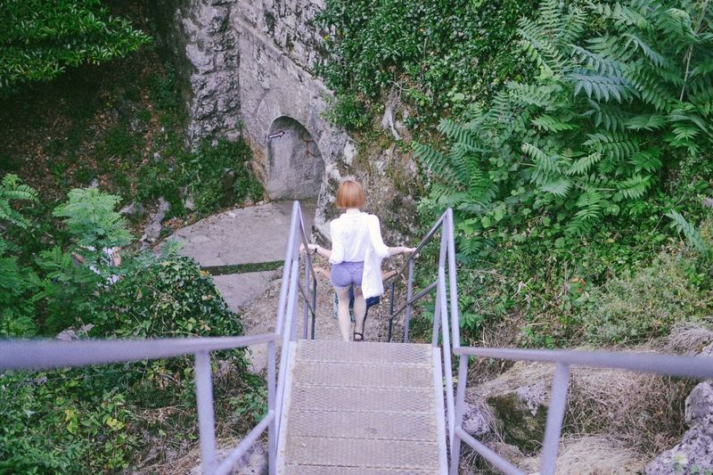 Adventure Adventure Time Exploring Exploring New Ground Stairs Stairways Summer Summertime Summer2015 Croatia White Shirt Ginger Gingerhair Girl Outfit Shorts Green