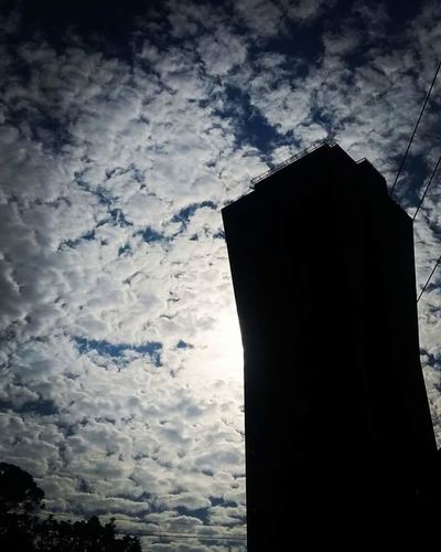 Low Angle View Sky Cloud - Sky Architecture Built Structure Day Building Exterior Silhouette Cloud Cloudy Outline No People Axabuilding Blenderbuilding Axatower
