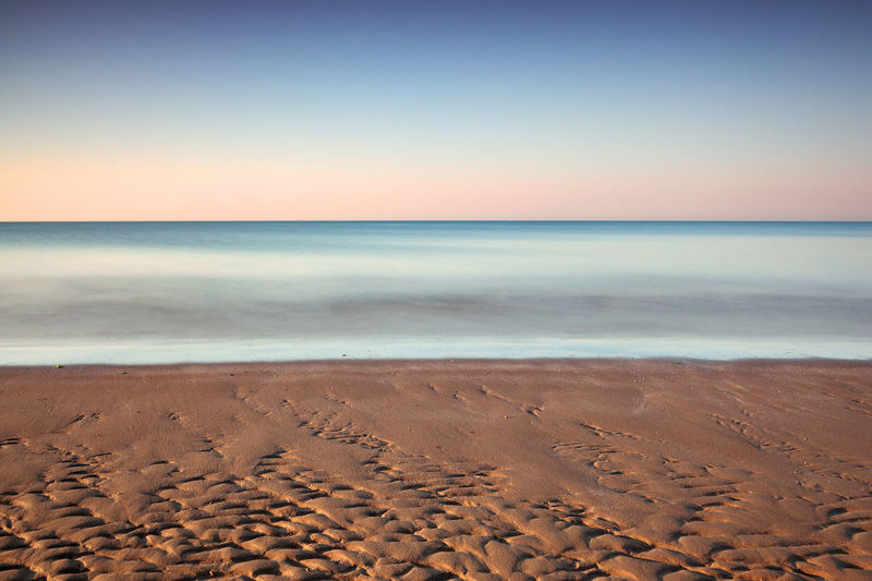 Beach Spiaggia Strand Ocean Mare Meer Italy Italien Sea Land Horizon Beach Horizon Over Water Sand Sky Scenics - Nature Tranquility Tranquil Scene Water Beauty In Nature Nature No People Motion Copy Space Outdoors Clear Sky Idyllic