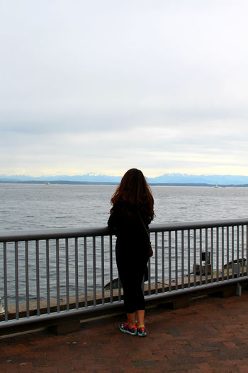 Overlooked Beauty Overlooking The Sea Pacific Northwest  Pacific Ocean Pondering Seattle Snowy Mountains Travel Photography