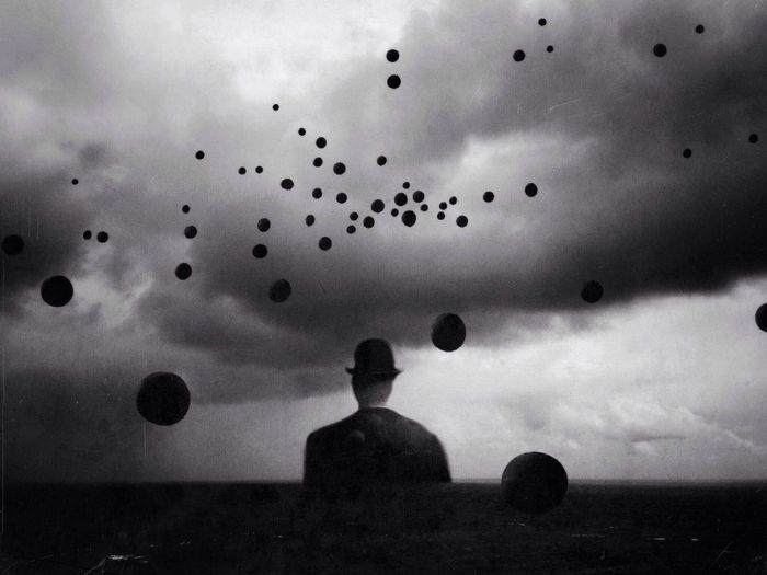 The Human Condition Surrealism Blackandwhite Monochrome The Illusionist - 2014 EyeEm Awards
