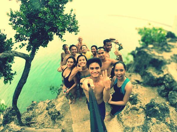 Siquijor with my triathlon team! CliffJumping GoPro Hero3+ Friends Siquijor,philippines