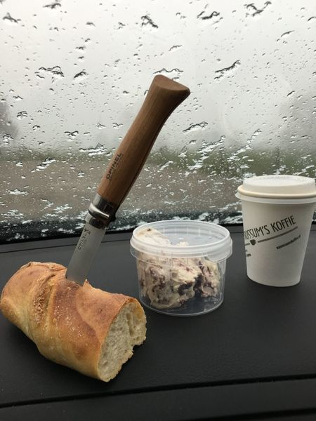 Lunch: coffee, bread and cheese Lunch Coffee Bread Cheese Knive Opinel Show Us Your Takeaway!