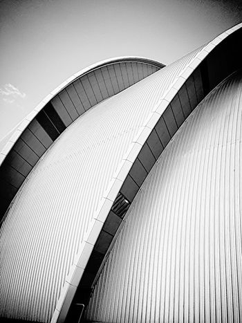 Architecture Modern Built Structure No People Building Exterior Outdoors City Futuristic Day Sky Glasgow Black And White Photography Scottish Exhibition Centre Armidillo