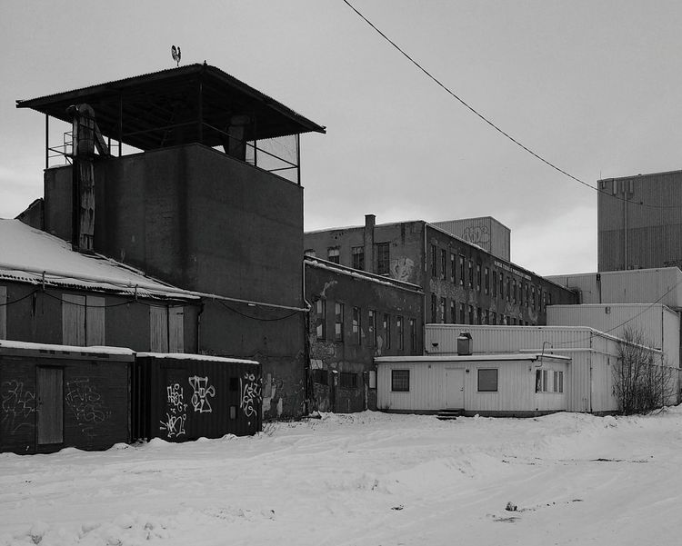 Blackandwhite Cloud Snow Black And White Photography Blackandwhite Photography Outdoors Factory Old Old Buildings Showcase March Winter Mystic Mystical Eyyem Bestoftheday