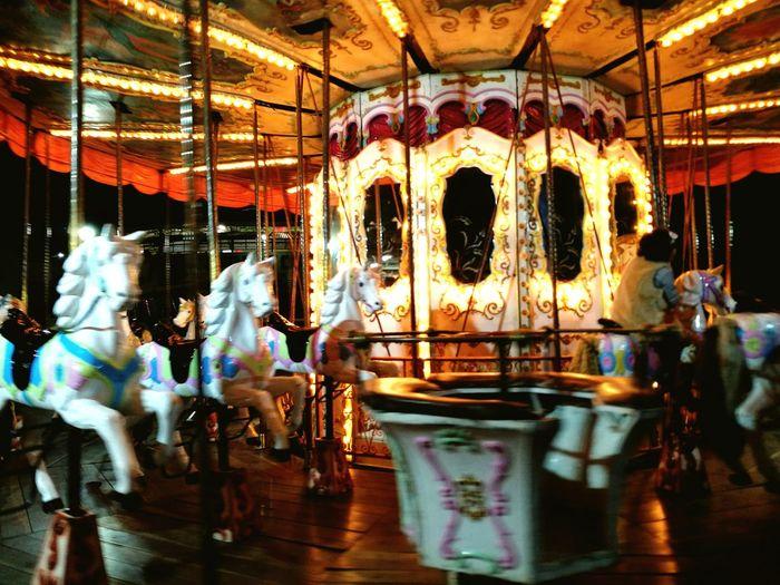 Carousel Arts Culture And Entertainment Illuminated Night