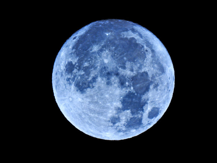 Astronomy Beauty In Nature Black Background Blue Circle Full Moon Geometric Shape Moon Moon Surface Nature Night No People Outdoors Planetary Moon Scenics - Nature Shape Single Object Sky Space Space Exploration Sphere Tranquility