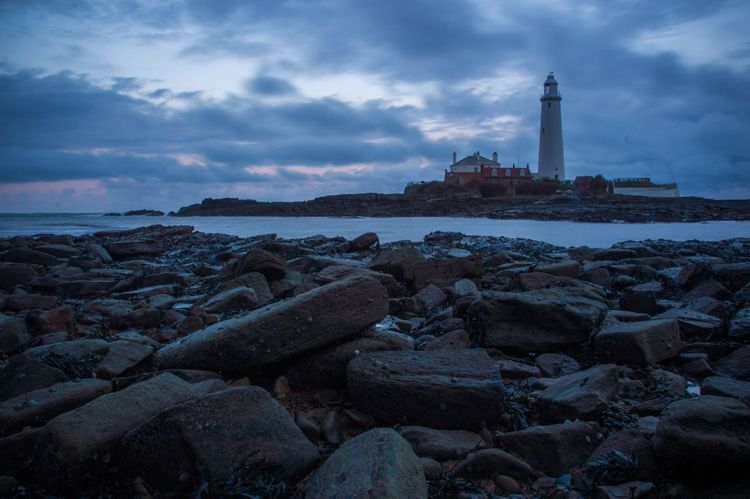 Last one... Newcastle Upon Tyne Sea Waves St Marys Lighthouse Long Exposure Clouds And Sky Lighthouse
