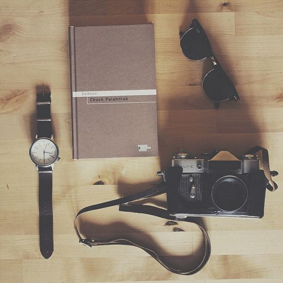 ♥ That's Me Inmybag Traveling Zenit-E Analogue Photography Chuckpalahniuk Raybanclubmaster