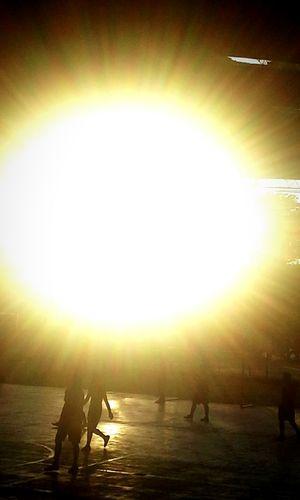 Ultimos rayos de la puestas del sol ..