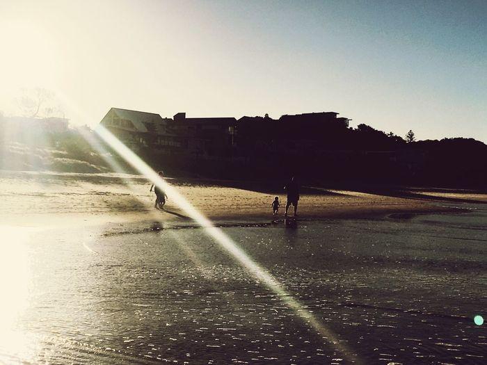 Australia Sunshine Sand Water People Clear Sky Beach