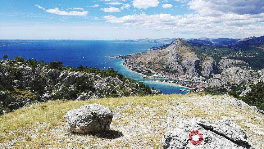 Mountain Sea Nature Water No People Landscape Sky Beauty In Nature Scenics Day Outdoors Lost In The Landscape Omis Omis Croatia Adriatic Sea An Eye For Travel