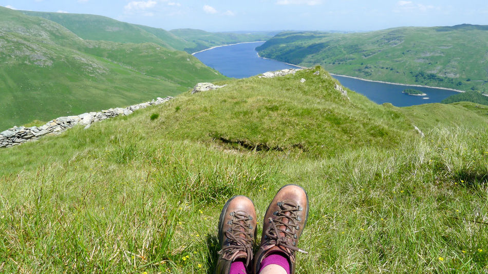 Resting at the top of High Street in the Lake District Fresh Air Hiking Hiking Trail Landscape Landscape With Whitewall Resting Trail Walking Boots Landscapes With WhiteWall Things I Like The Essence Of Summer Feel The Journey