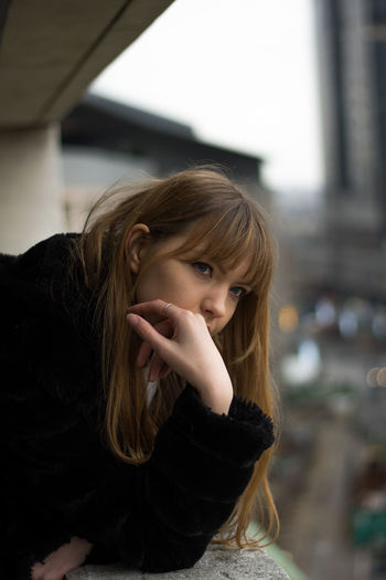 BRUSSELS Portrait Long Hair One Person Hair Focus On Foreground Headshot Hairstyle Young Adult Looking At Camera Lifestyles Young Women Brown Hair Women Blond Hair Casual Clothing Front View Indoors  Adult Teenager Beautiful Woman Model Brussels Rooftop Rooftop View  Modern