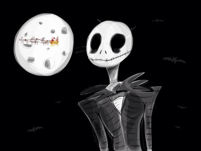 End (fin) Drawing Art TheNightmareBeforeChristmas Ipad