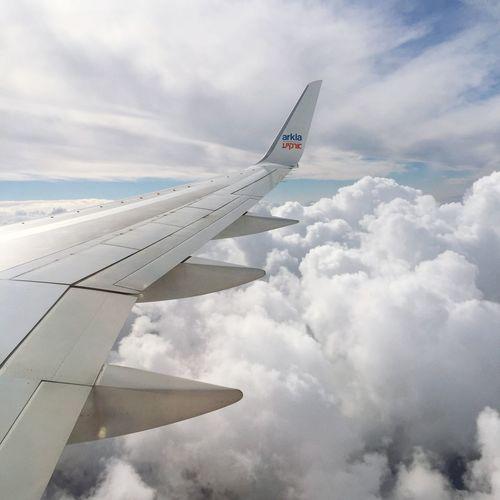 So far First Eyeem Photo Clouds Airplane Sky Flight