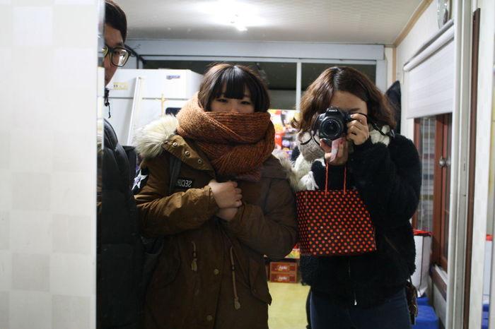 4년전. 목도리 하고있는게 나 4YearsAgo That's Me With Friends Traveling Taking Photos