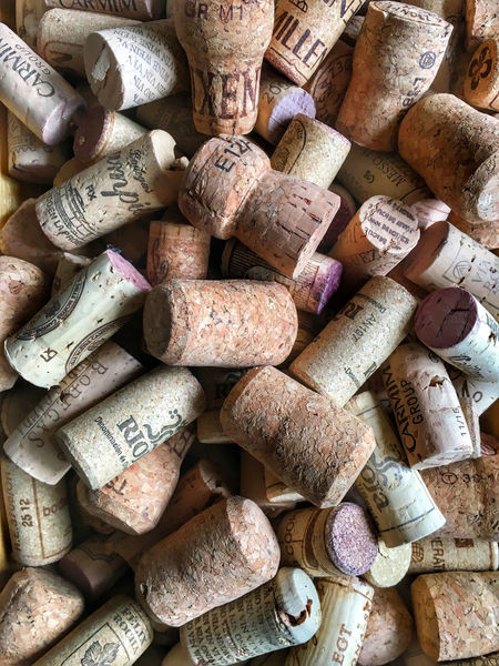 Wine corks background Abundance Arrangement Backgrounds Close-up Cork - Stopper Day Full Frame High Angle View Large Group Of Objects No People Outdoors Variation Wine Cork