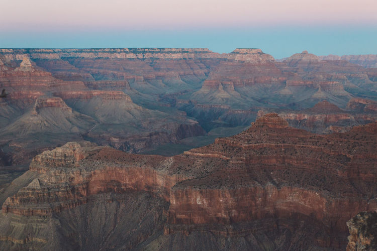 Scenic View Of Eroded Landscape At Grand Canyon National Park
