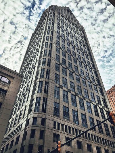 Ally Brooke Ally Center Architecture Building Exterior Built Structure City Day Detroit Buildings Low Angle View Office Building Exterior One Detroit C One Detroit Center Skyscraper Tall - High Tower