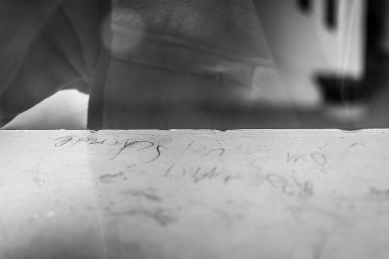 This inscription on the sill is from my childhood. It was left by my sister when we left this house a very long time ago. I'm surprised it's still there. via http://www.rhme.de/time-document/ Blackandwhite Picoftheday Feelings Nikon