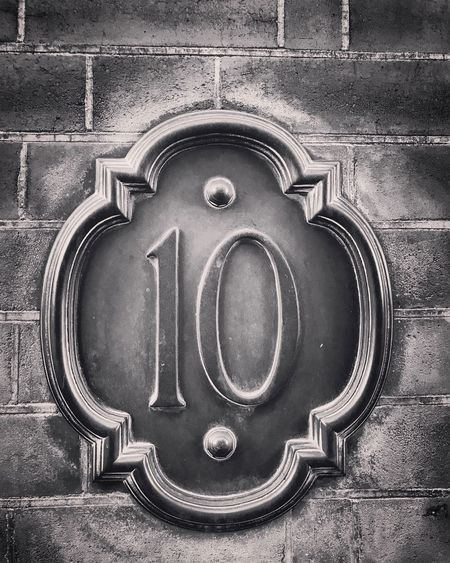 Metal Outdoors Architecture No People Building Exterior Door Day Close-up Built Structure Numbers Address Blackandwhite Brick Postcode Postcards 10