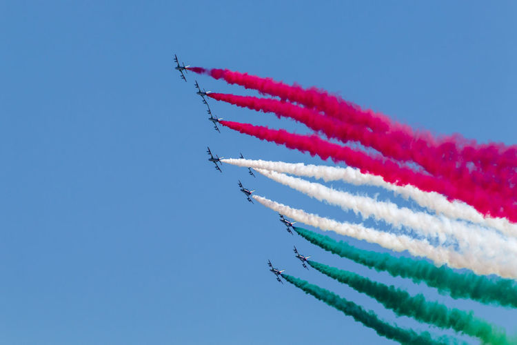 2 Giugno Roma Rome Rome, Italy Air Force Air Vehicle Airplane Airshow Fighter Plane Formation Flying Frecce Tricolore Airshow Frecce Tricolori Military Airplane Mode Of Transportation Motion Order Plane Rome Italy Sky Smoke - Physical Structure Transportation