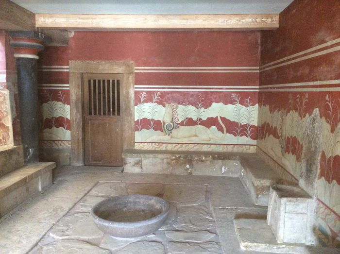 The Throne Room Minoan Palace Ancient Civilization Indoors  No People Architecture Built Structure