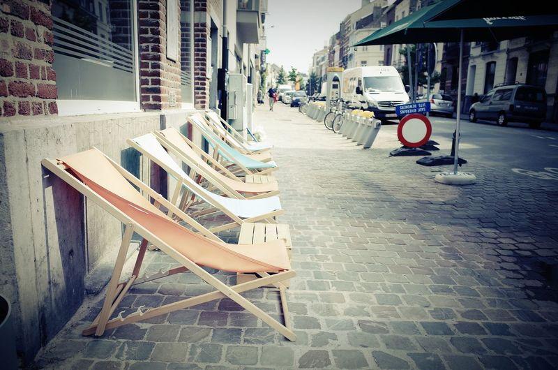 Streetphotography RICOH GR 2 Ricoh GR II Ricoh Gr2 Street Multi Colored Transats Bar Sous Les Pavés La Plage... City Chair