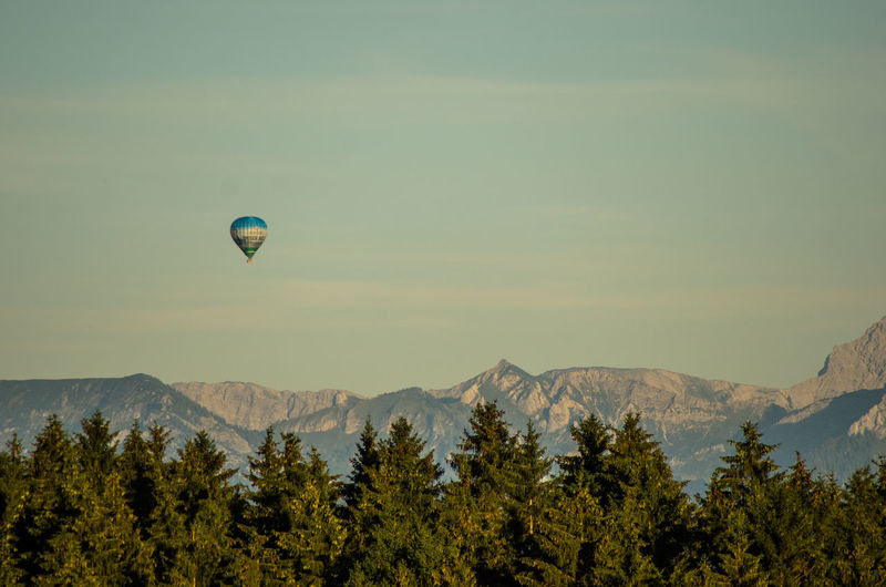 Adventure Beauty In Nature Flying Hot Air Balloon Landscape Mountain Mountain Range Nature No People Travel Destinations Lost In The Landscape
