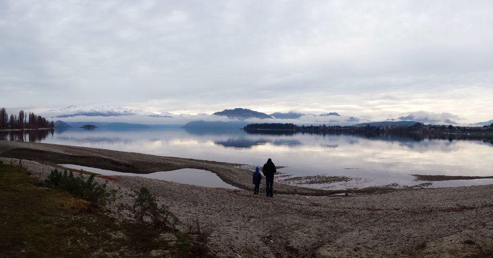 Wanaka Lake Winter Father & Son Fatherhood Moments Two Is Better Than One Nature