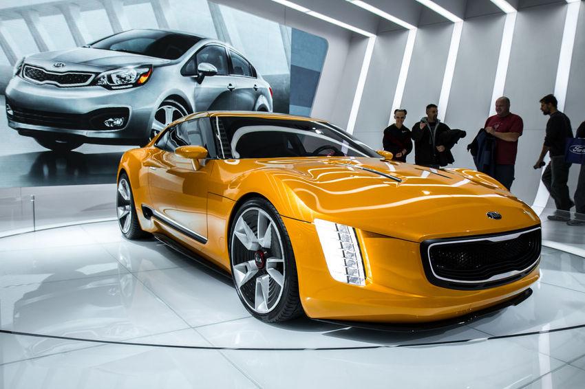 Car Close Up Close-up Concept Car Detroit Auto Show 2014 Headlight Kia Land Vehicle Mode Of Transport