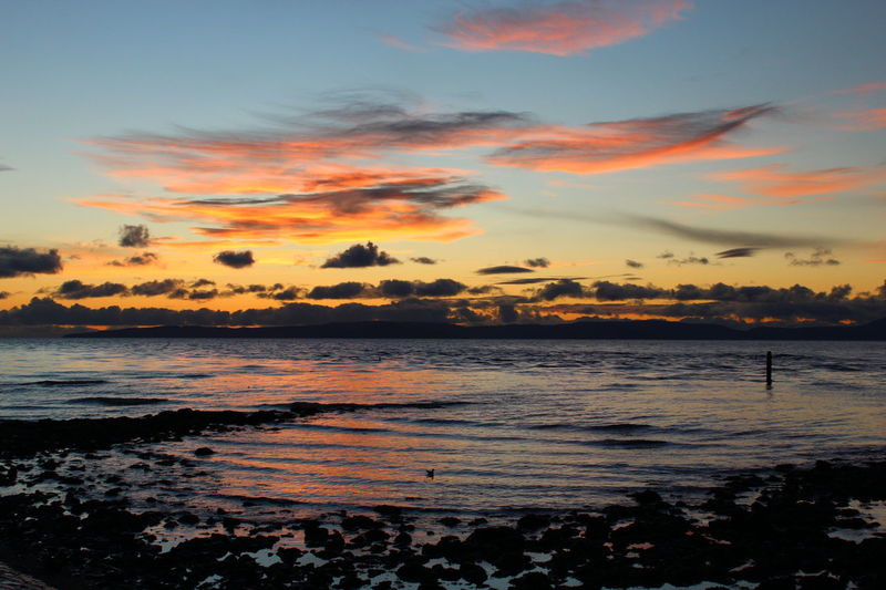 Sunset over the Ayrshire coast. Sunset Outdoors Sky Beauty Beach Landscape Water Scenics Clouds Sea Coastline Scotland Scotland 💕 Cloudscape Coastal Dramatic Sky Reflection Wave Ocean Shore Cloud - Sky