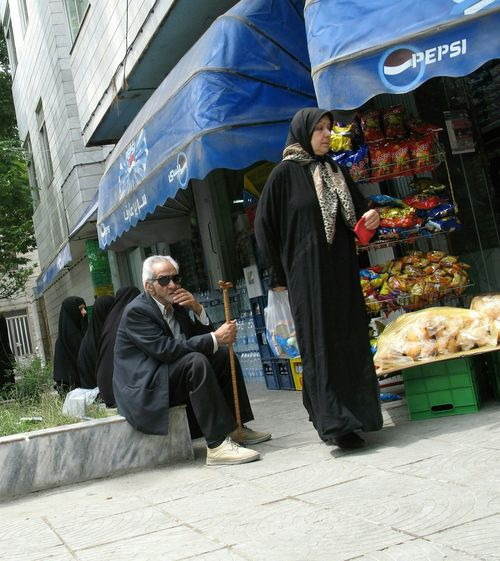 Corner Shop I.R.I Walking Stick Old Couple Advertisement Social Photography Travel Photography